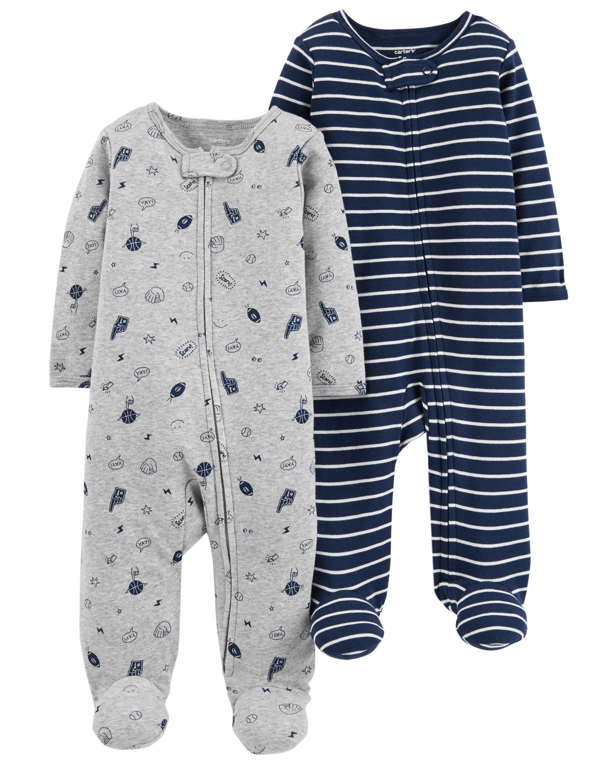 98a518c7c 2-Pack Zip-Up Cotton Sleep   Play