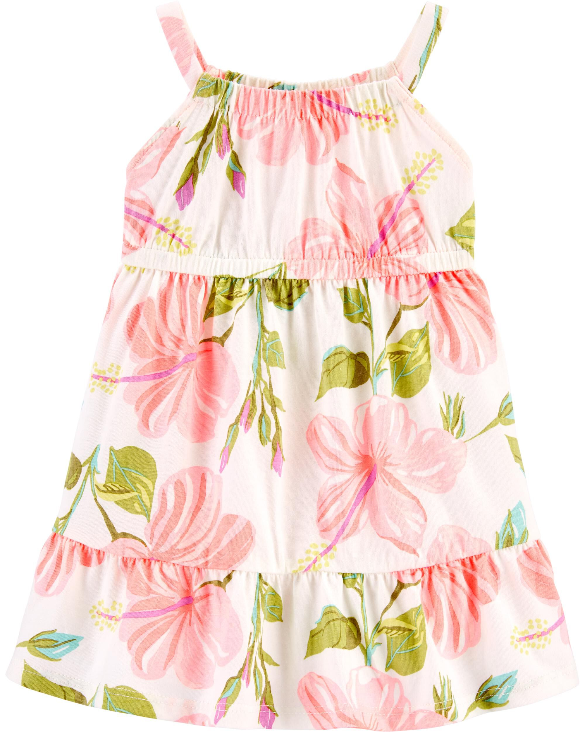 3-6Mos Child of Mine Baby Girls Black Dot Dress