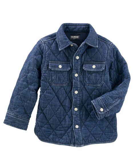a51ad1e1a3d Toddler Boy Quilted Denim Jacket