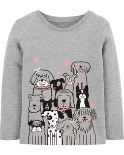 6dd703add4fa Toddler Girl Long Sleeve Graphic Tees | Carter's | Free Shipping