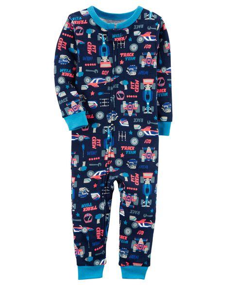 6d414599d 1-Piece Neon Snug Fit Cotton Footless PJs