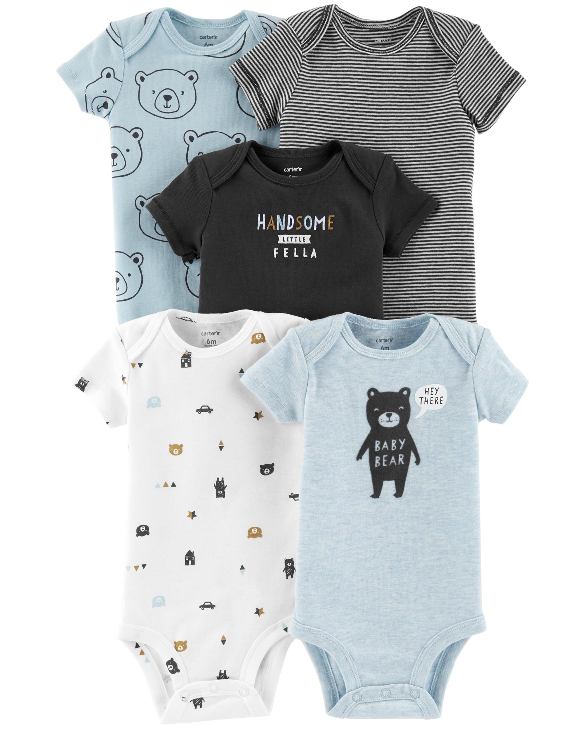 45cee83b3 5-Pack Bear Original Bodysuits | Carters.com