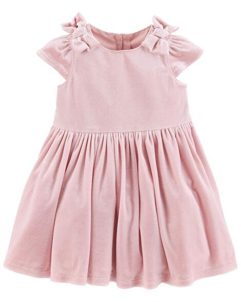 9424f842a2 Bow Velour Dress