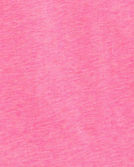 Neon Floral Lace Slub Jersey Tee