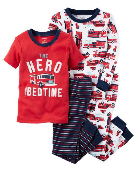 566a201ca 4-Piece Hero Snug Fit Cotton PJs