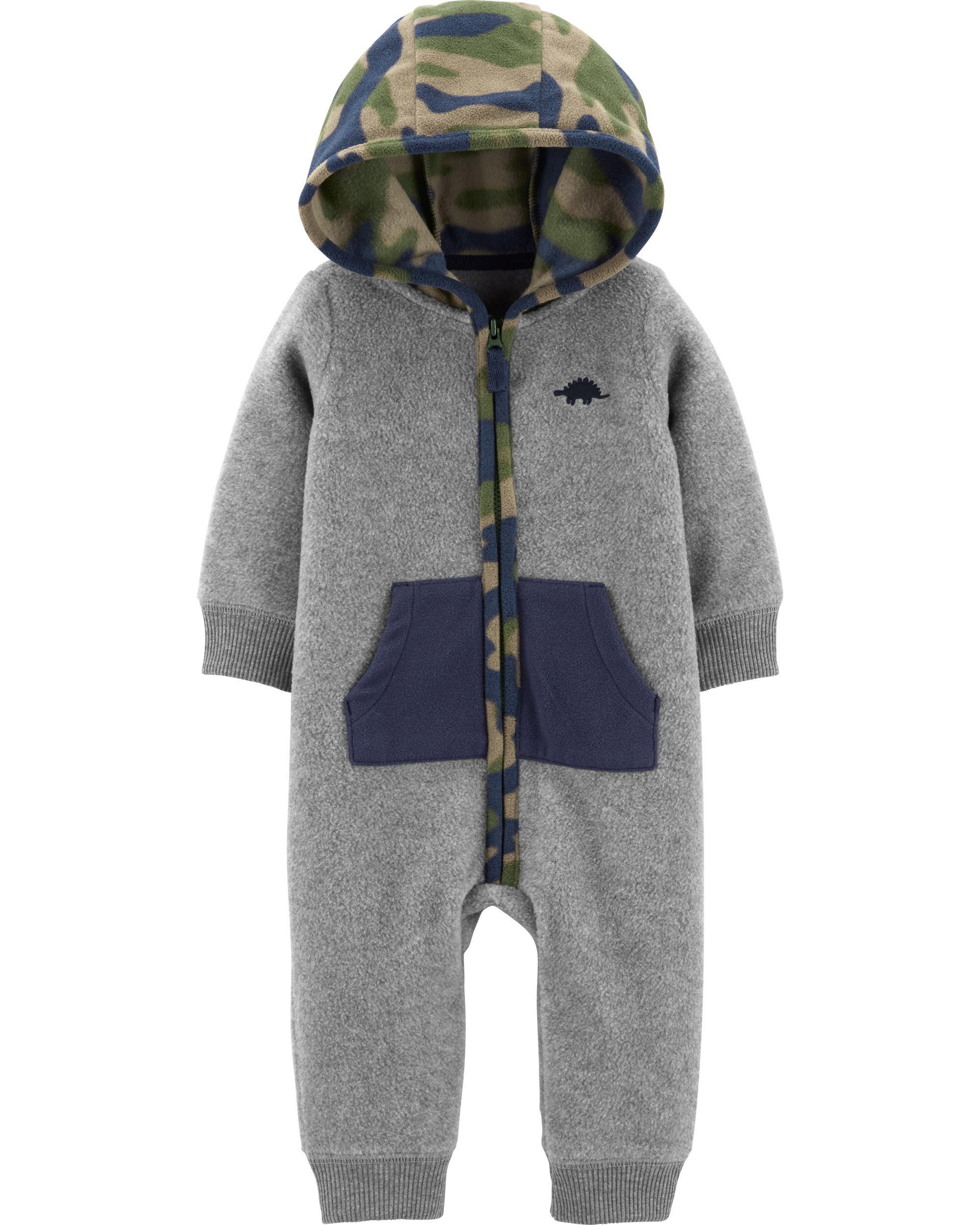 *CLEARANCE* Hooded Fleece Jumpsuit
