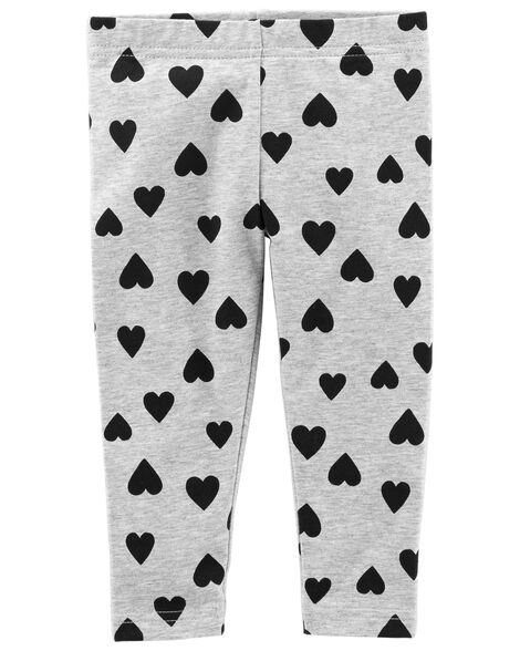 e6250c7e6de1b1 Heart Capri Leggings | Carters.com