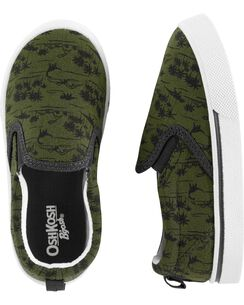 cc00eb5285f9 OshKosh Dinosaur Slip-On Shoes