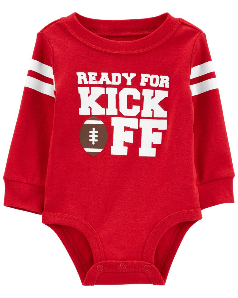 Ready For Kick Off Football Bodysuit Red