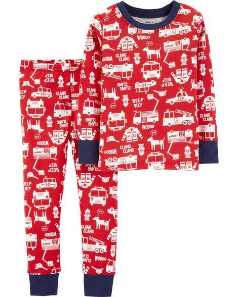 6ef1a501c 2-Piece Vehicles Snug Fit Cotton PJs