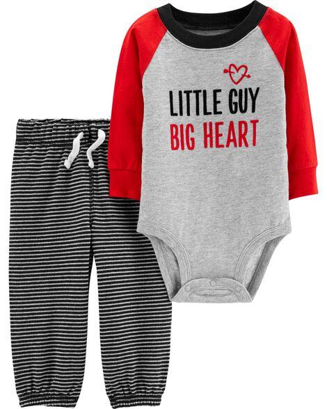 6e01d1f78380 2-Piece Valentine s Day Bodysuit Pant Set