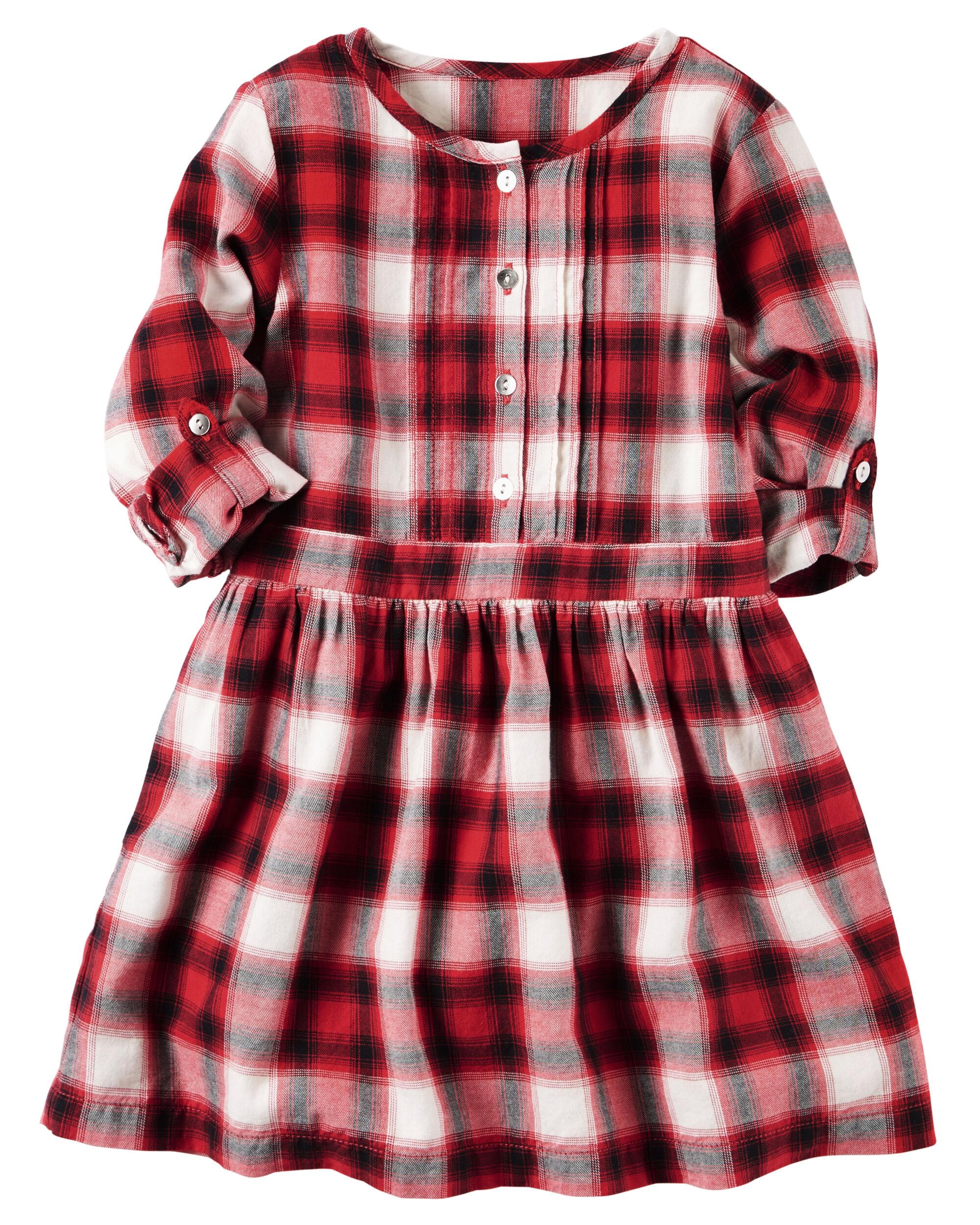 Plaid Shirt Dress Carters Com