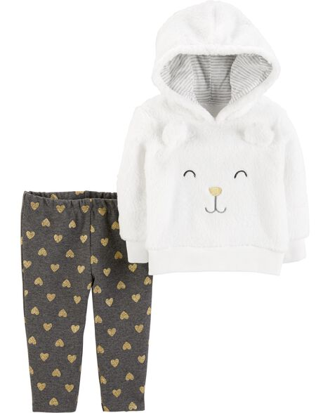 3ce590453204 2-Piece Character Hoodie   Heart Pant Set