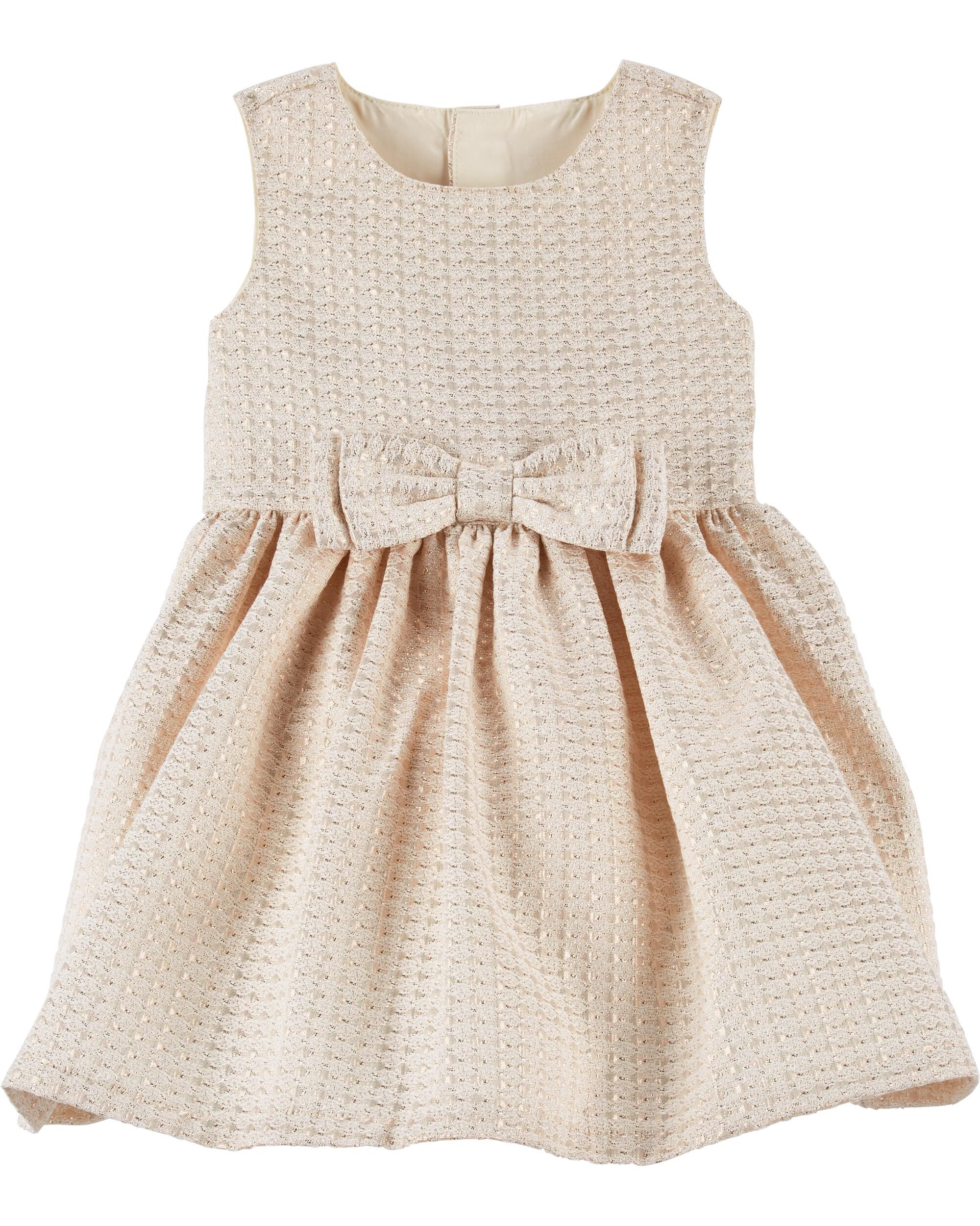 66b00891eb Jacquard Bow Holiday Dress ...