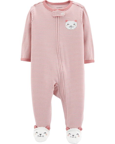 Mouse Zip-Up Cotton Sleep & Play