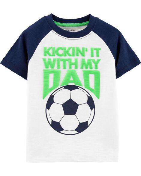 Soccer Raglan Slub Jersey Tee