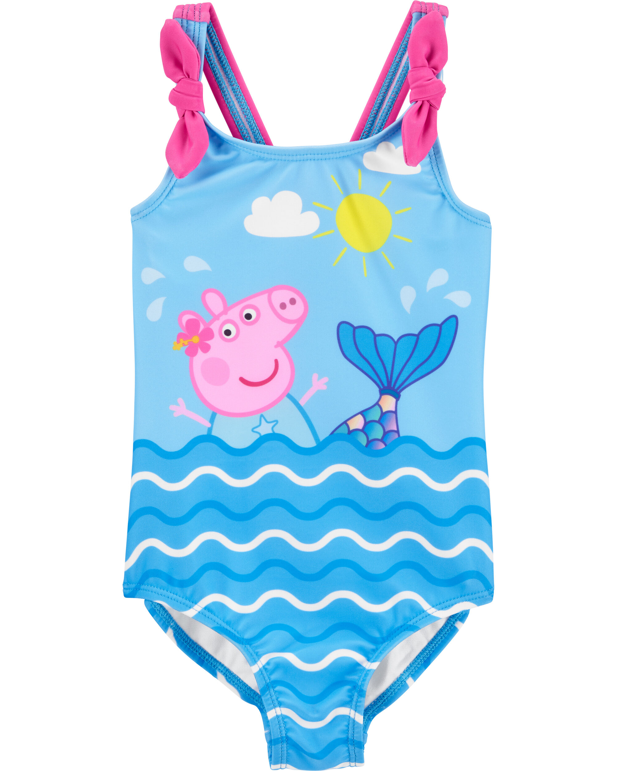 Toddler Girls Peppa Pig 2 Piece Tankini Swimsuit Blue