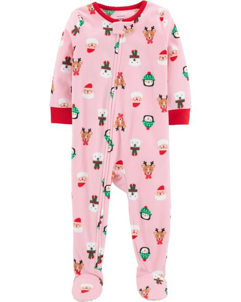 1-Piece Baby Christmas Fleece PJs - 1-Piece Baby Christmas Fleece PJs Carters.com