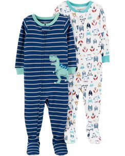 Toddler boy pajamas carters free shipping 2 pack cotton pjs ccuart Image collections