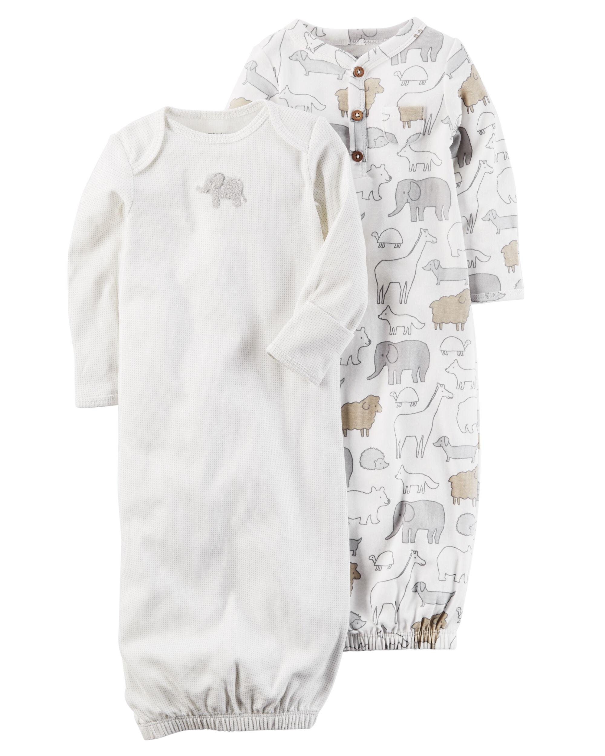 2-Pack Babysoft Sleeper Gowns | Carters.com