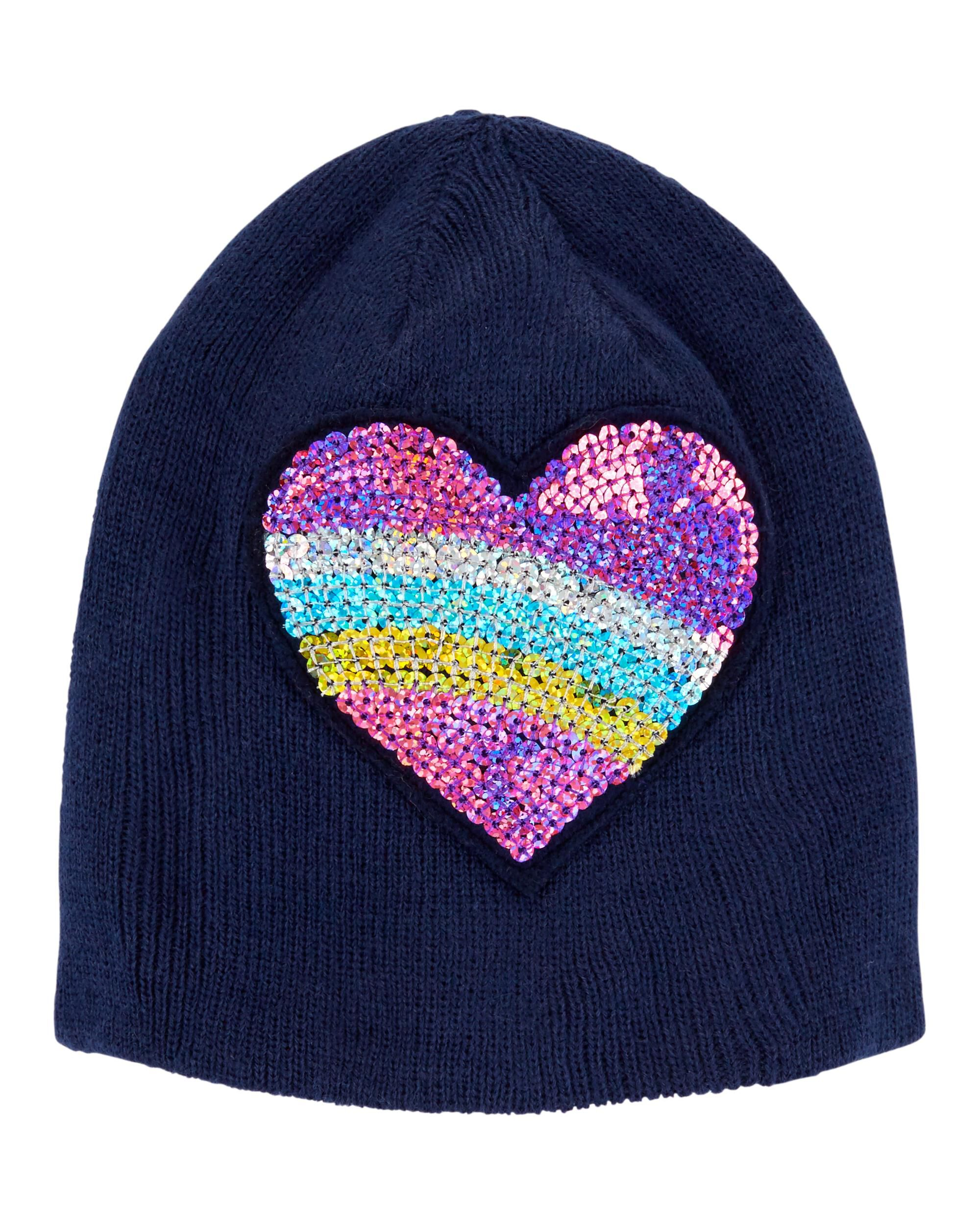 *CLEARANCE* Sequin Heart Cap