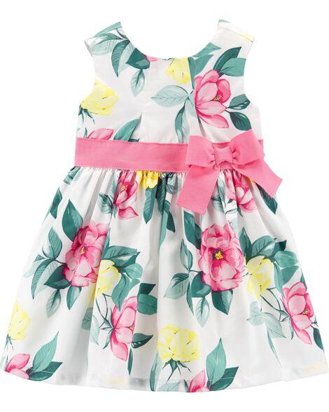 a8831a796a3a1 Floral Sateen Dress | Carters.com
