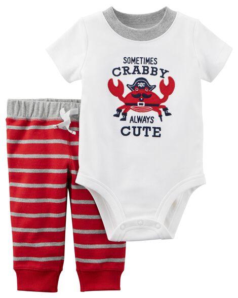a1d23e49a 2-Piece Bodysuit Pant Set | Carters.com