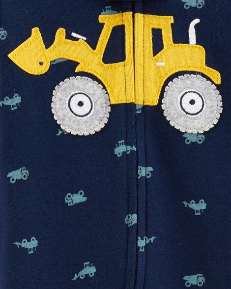 1-Piece Construction Snug Fit Cotton Footless PJs