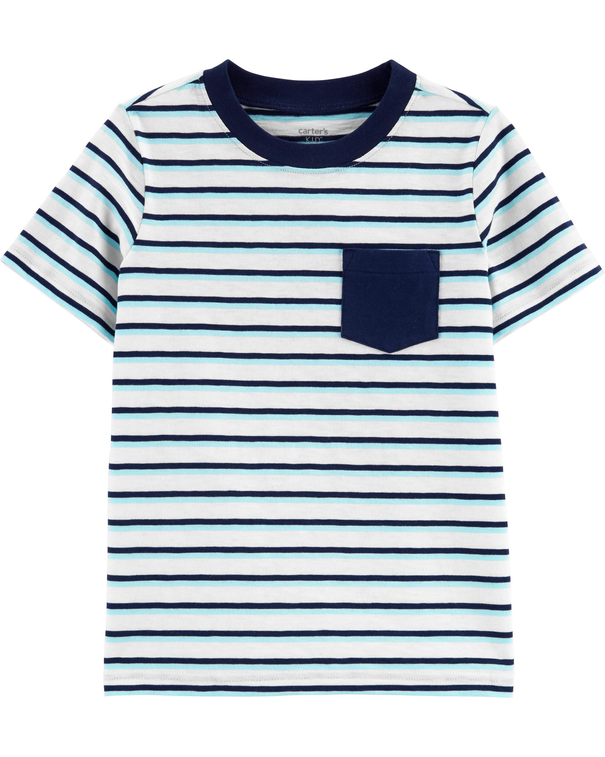 *CLEARANCE* Striped Pocket Jersey Tee