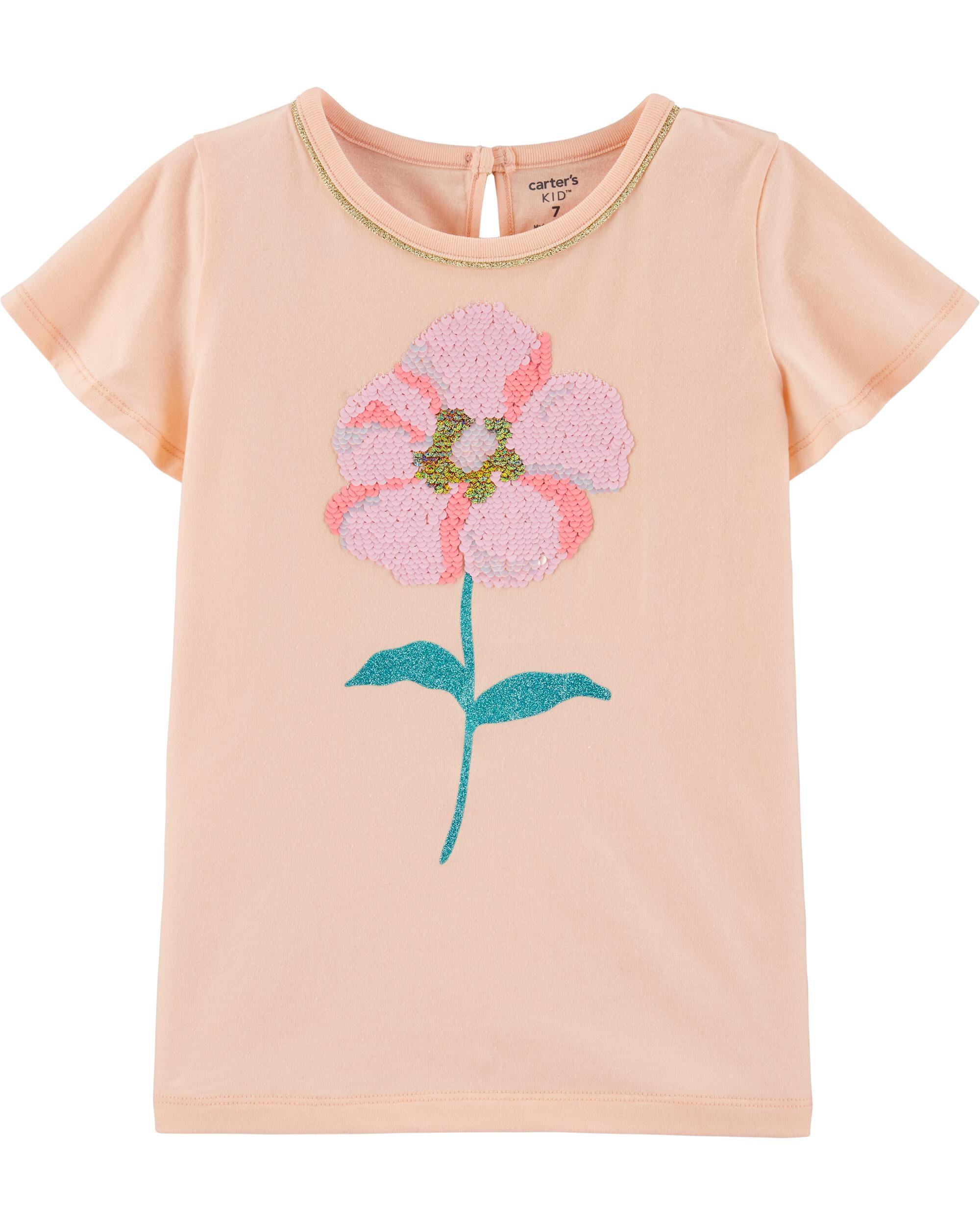 *CLEARANCE* Flip Sequin Flower Jersey Tee