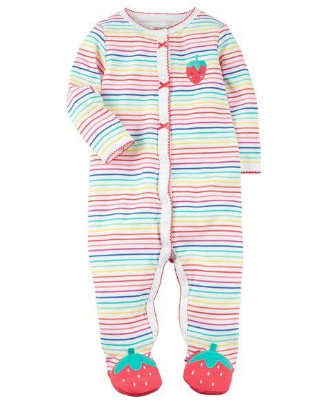 86888d223 Snap-Up Strawberry Cotton Sleep   Play