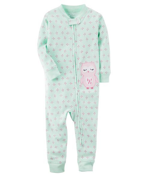 0a6bc20edb93 1-Piece Certified Organic Snug Fit Cotton Footless PJs