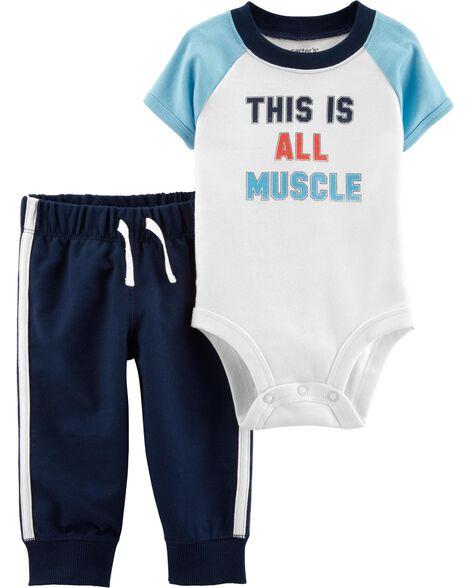9d11621fa 2-Piece Athletic Bodysuit Pant Set | Carters.com
