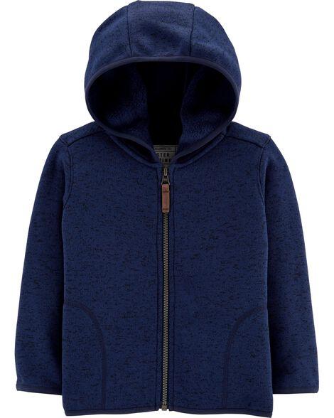Zip-Up Sweater Fleece Hoodie