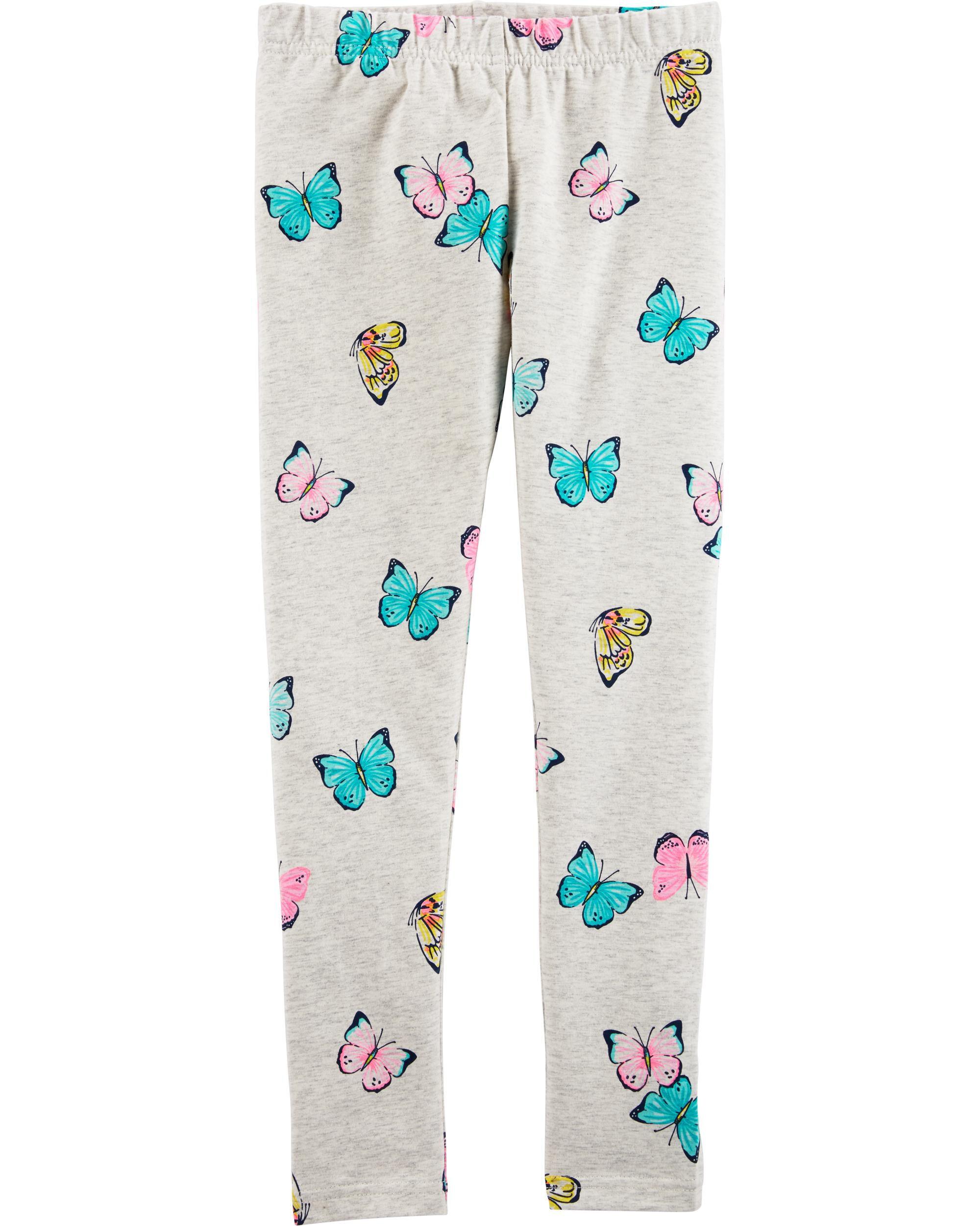 Carters Girls 2T-4 Butterfly Leggings