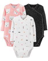 3-Pack Side-Snap Bodysuits, Color, hi-res