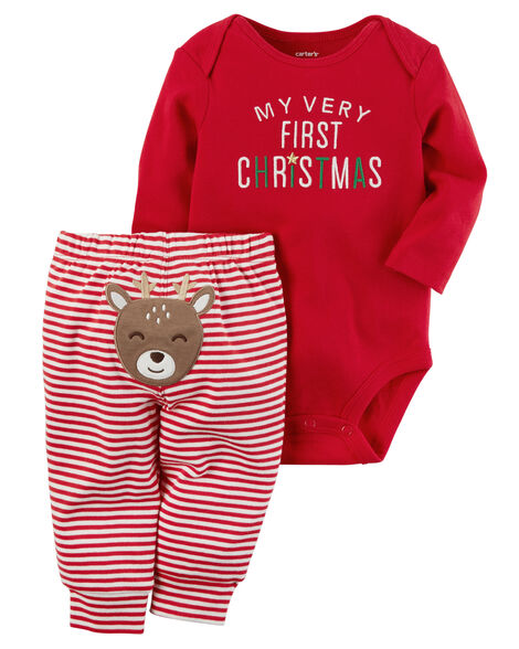 2-Piece Christmas Bodysuit Pant Set - 2-Piece Christmas Bodysuit Pant Set Carters.com