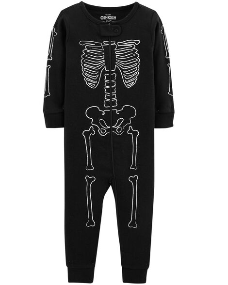 26195f2d1 Baby Boy 1-Piece Skeleton Cotton PJs