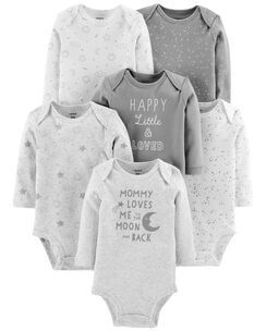 03496e4578 6-Pack Neutral Original Bodysuits