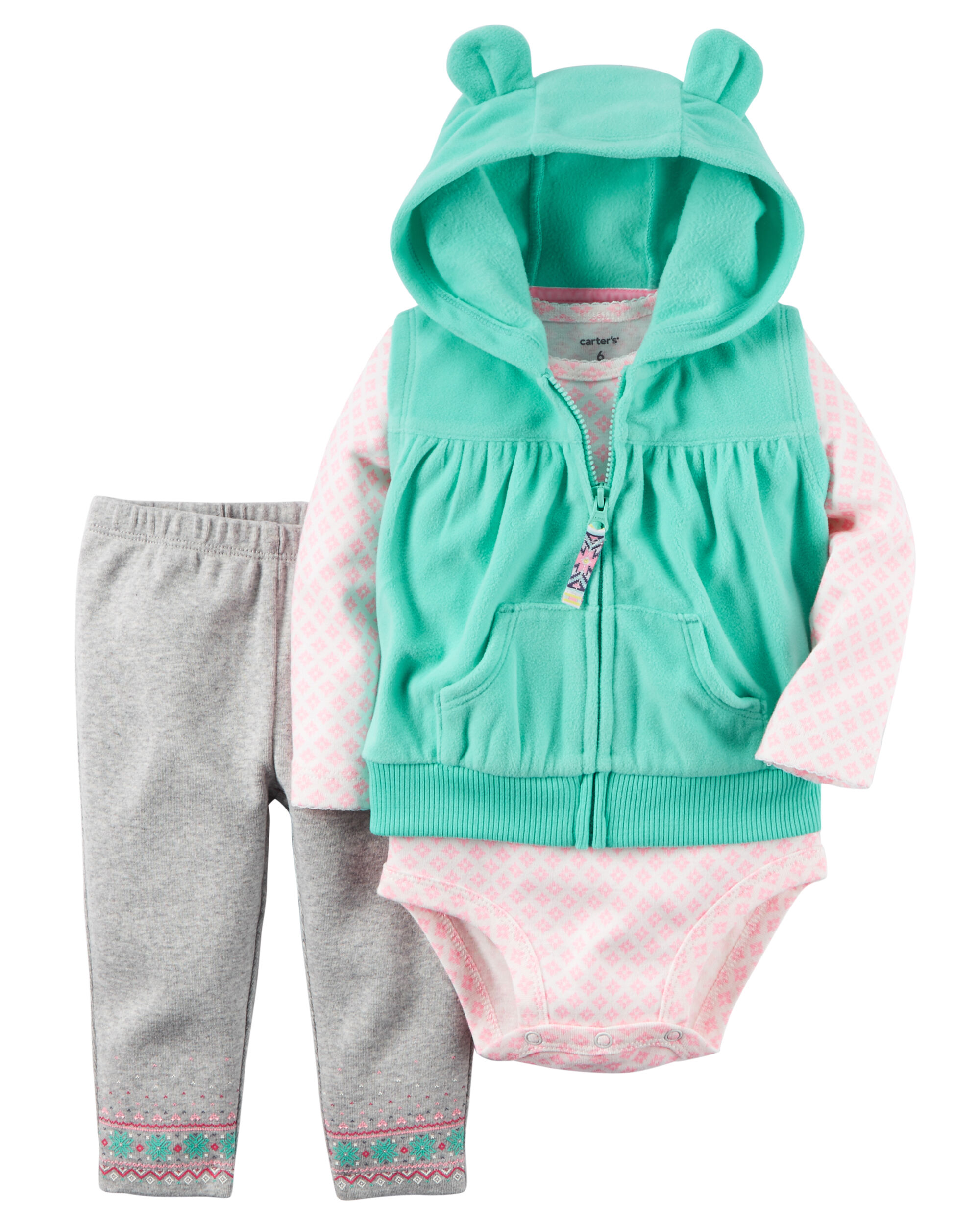 Crafted Baby Girl  Piece Clothes Set