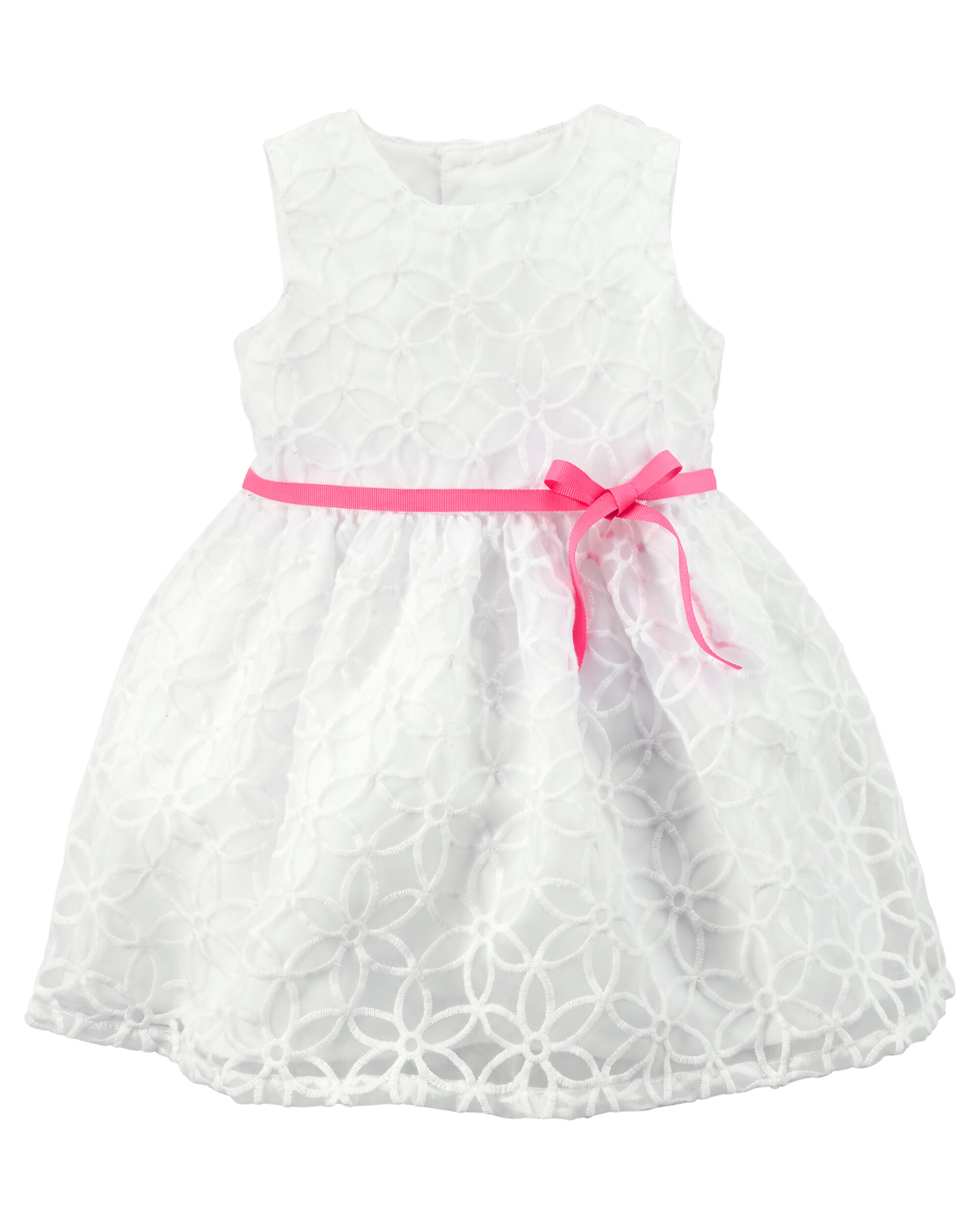 Baby pink and white lace dress