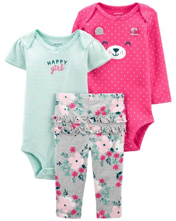 Carters Toddler Girl 2 Pack Pairs Leggings Cheetah Buffalo Check Holiday Red 5T