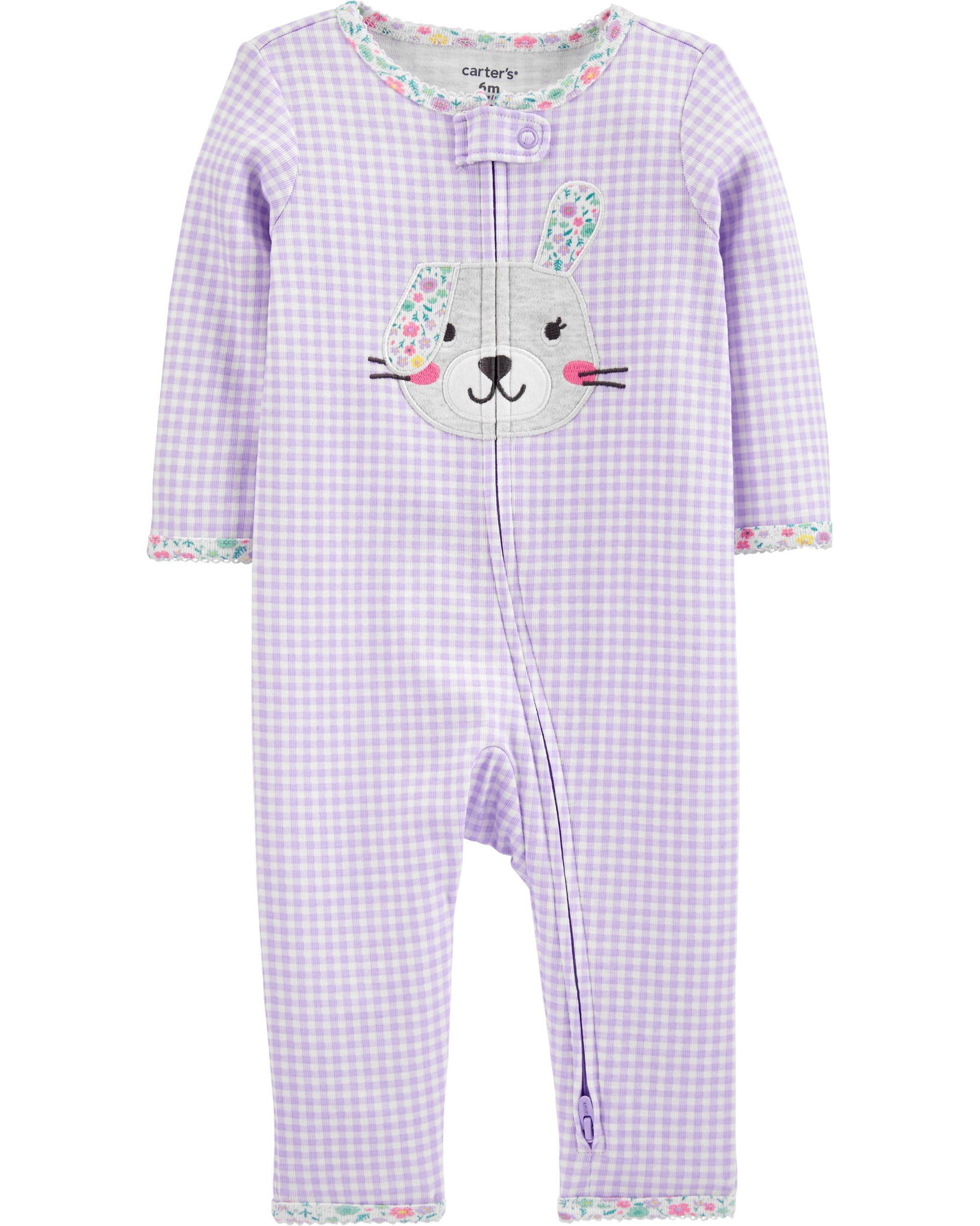 *CLEARANCE* Bunny 2-Way Zip Cotton Footless Sleep & Play