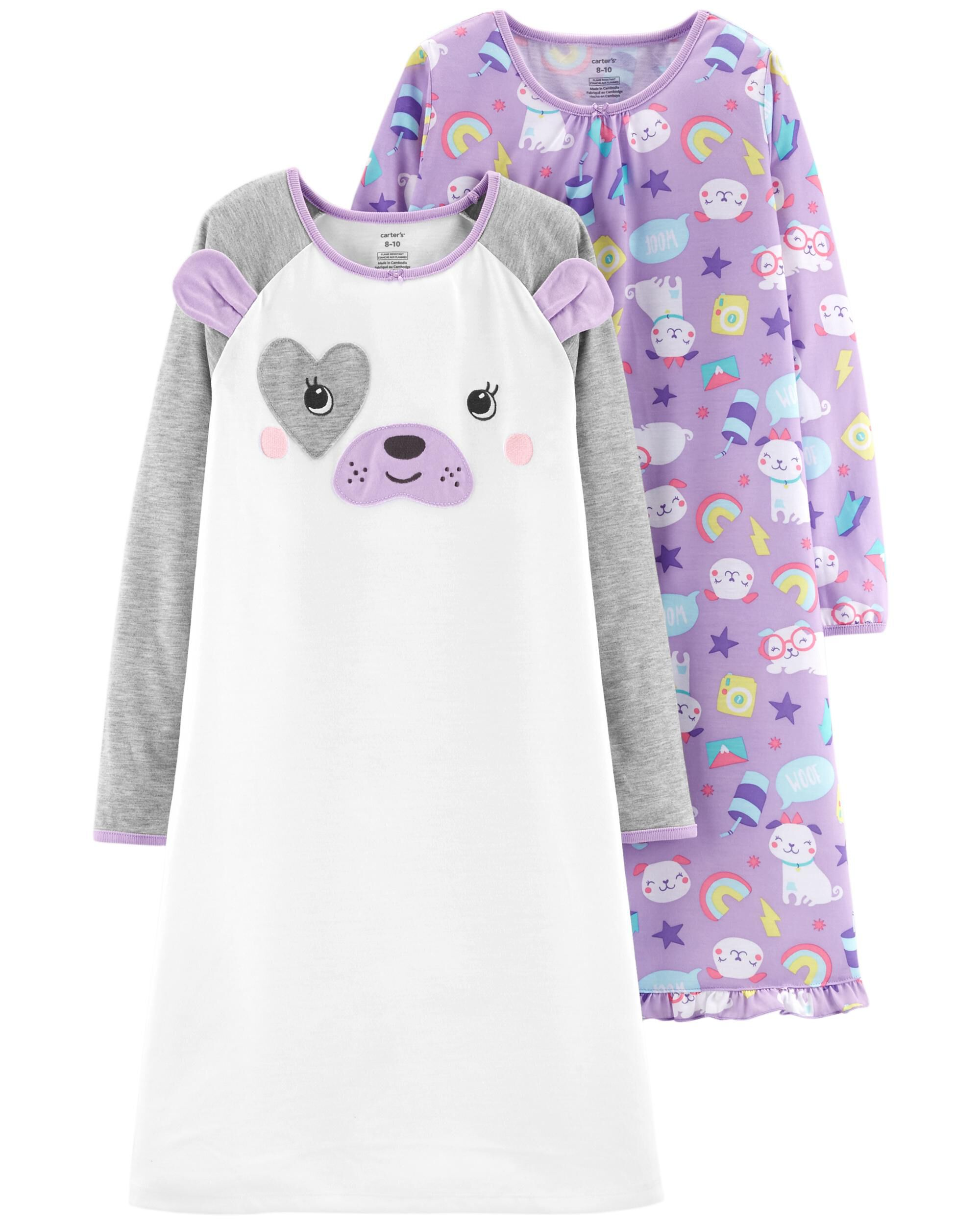 2-Pack Dog Sleep Gowns | Carters.com