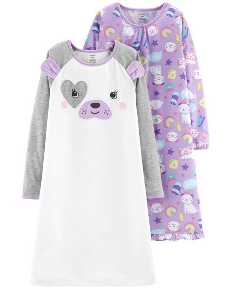 2-Pack Dog Nightgowns