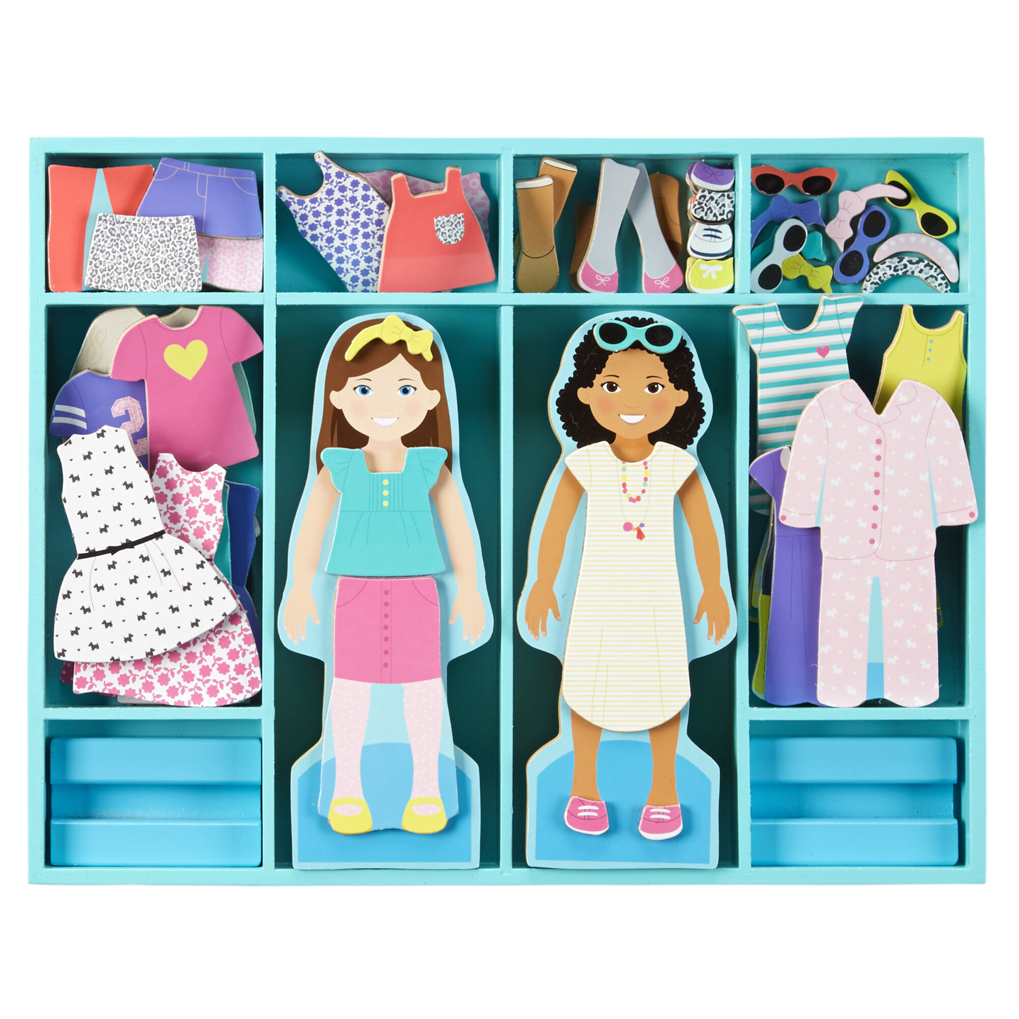 Melissa & Doug Magnetic Dress Up Dolls Set
