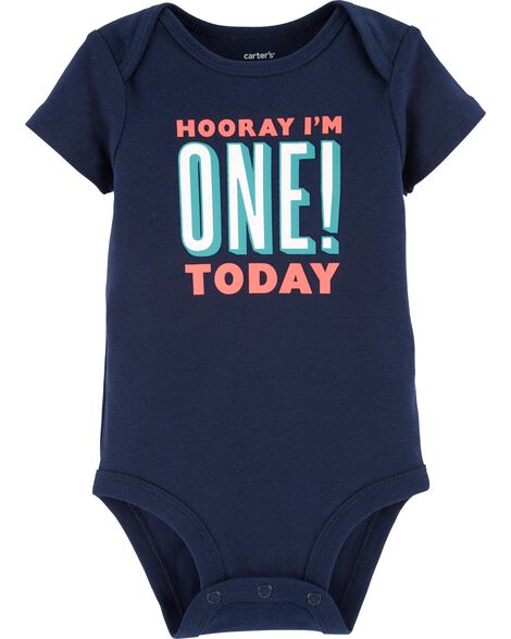 85392b4a3 First Birthday Collectible Bodysuit | Carters.com