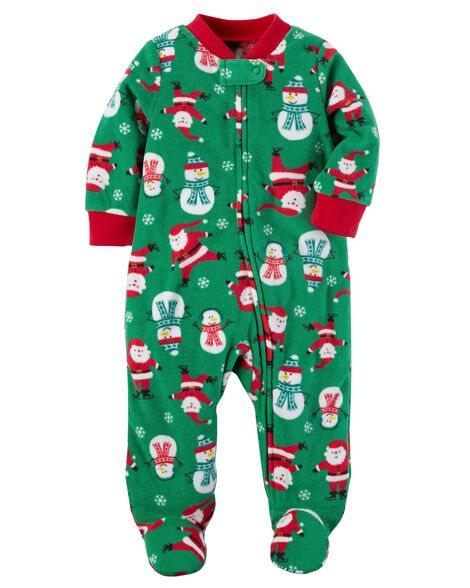 1f744f458 Fleece Zip-Up Christmas Sleep & Play | Carters.com