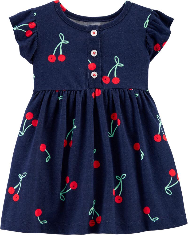 Cherry Jersey Dress, , hi-res