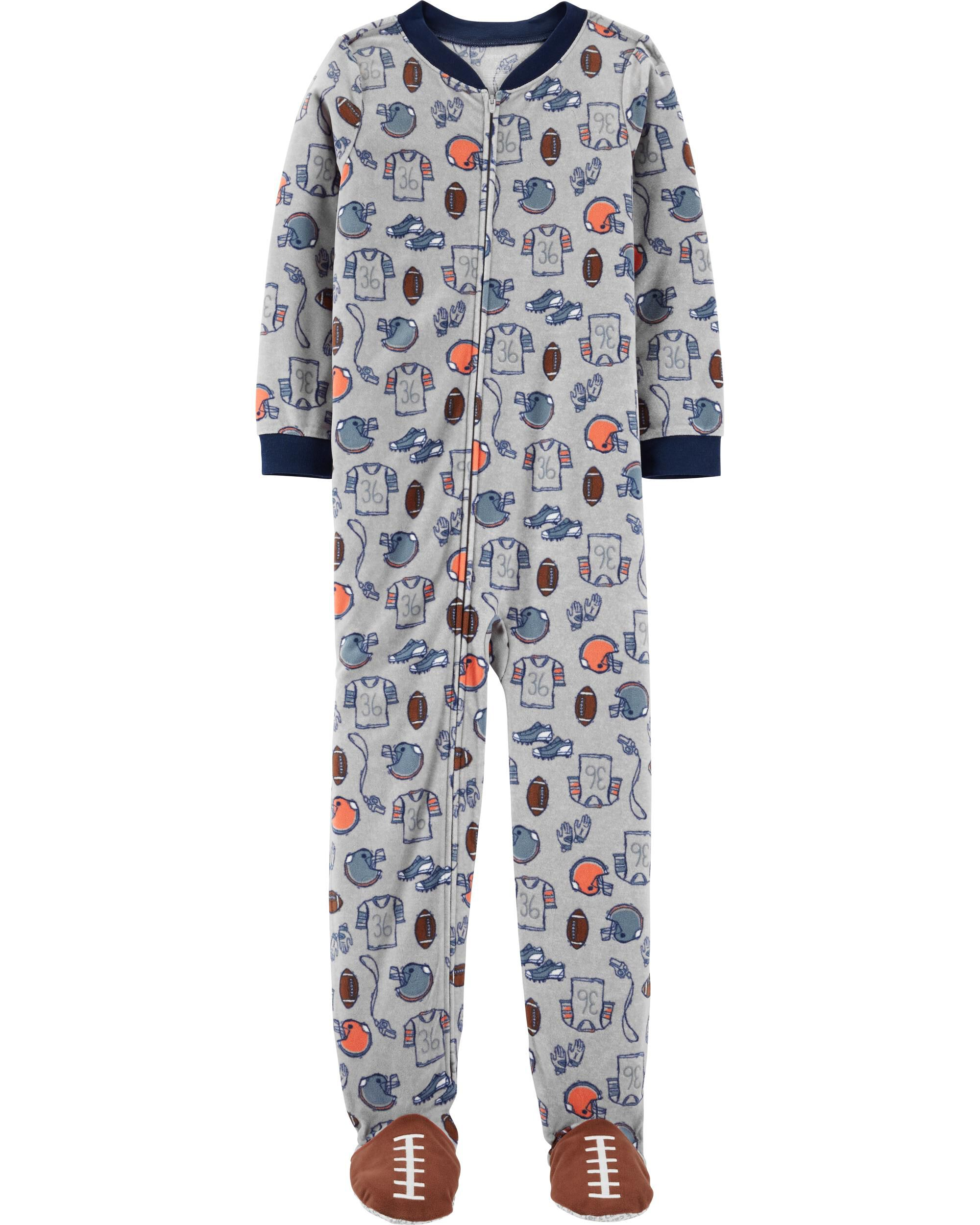 Girls' Clothing (newborn-5t) Carter's 2t Girl Fleece Footed Pajamas